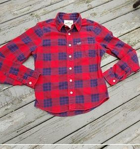 Flannel button up shirt sz large